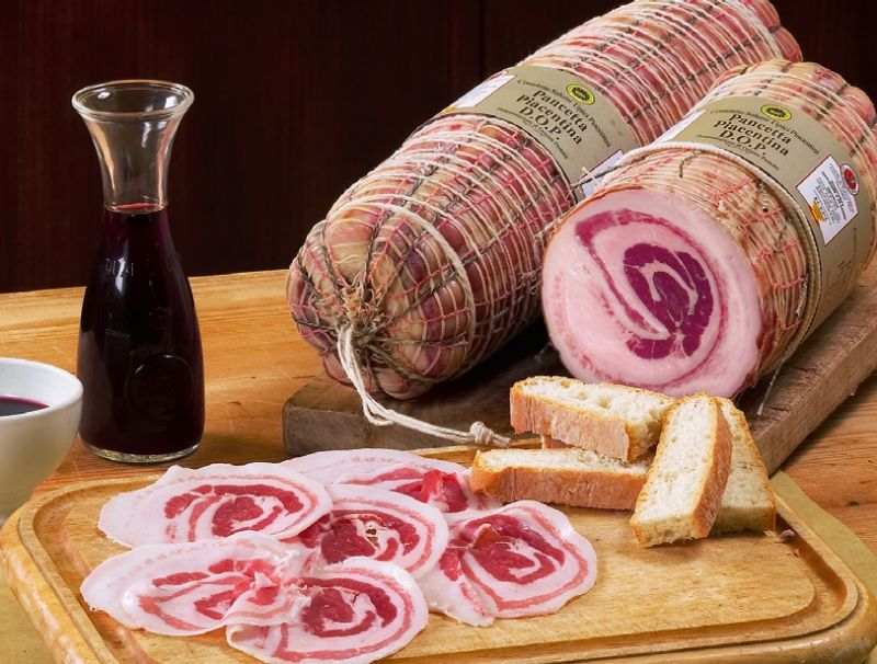 Pancetta piacentina prodotti tipici emilia romagna italy for Prodotti tipici roma